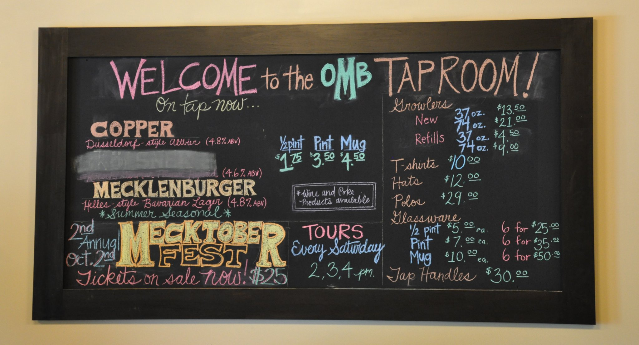 Tap Room Sign